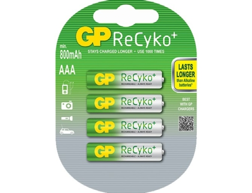 GP ReCyko+ Rechargeable Batteries