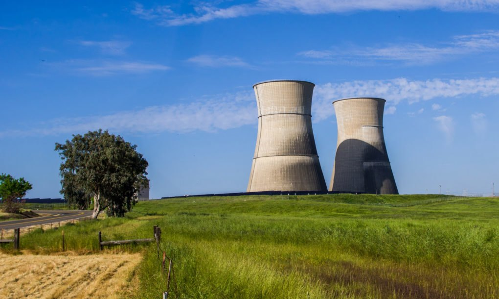 Nuclear power plant's cooling towers