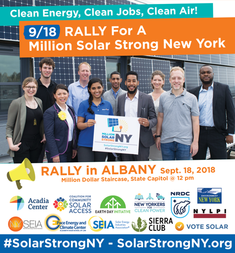 New York Event Rally Petition For A Million Solar Strong Green