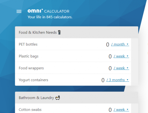 Interactive Apps: How Much Plastic Waste Do You Create Each Year?